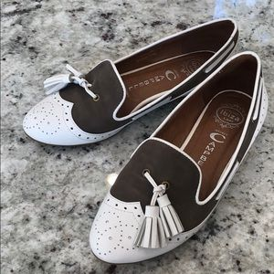 EUC Jeffrey Campbell Leather Tassel Loafers